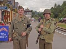 Fine settimana di rimessa in vigore 1940, Embsay, Yorkshire, Regno Unito Fotografia Stock