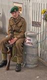 Fine settimana di rimessa in vigore 1940, Embsay, Yorkshire, Regno Unito Immagine Stock