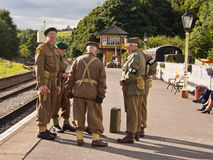 Fine settimana di rimessa in vigore 1940, Embsay, Yorkshire, Regno Unito Fotografia Stock Libera da Diritti