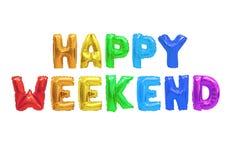Fine settimana felice immagine stock