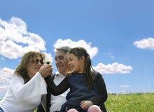 Fine settimana felice della famiglia Fotografie Stock Libere da Diritti