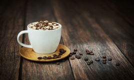 Fine shoot of cup of coffee Stock Photo