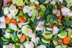 Fine sliced fresh vegetable Royalty Free Stock Photography