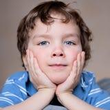 Fine small boy looks, portrait. Stock Images