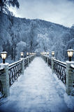 The fine snow evening in mountains Royalty Free Stock Photos