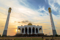 Fine Songkhla Mosque. In evening Stock Image