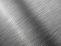 Fine spazzolata del metallo su struttura della priorità bassa. Fotografia Stock