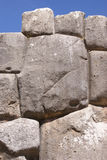 Fine stonework in Inca fortress walls Stock Images
