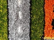 Fine a strisce del tappeto su fotografia stock libera da diritti