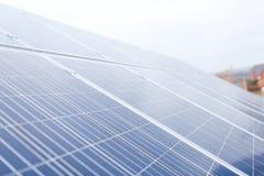 Fine in su dei comitati solari Immagine Stock