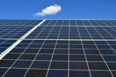 Fine in su dei comitati solari Fotografia Stock