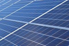 Fine in su dei comitati solari Fotografia Stock Libera da Diritti