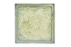 Fine su dell'isolato del blocco di vetro, con il percorso di ritaglio Immagine Stock Libera da Diritti