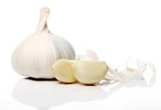 Fine in su di aglio fresco Fotografia Stock