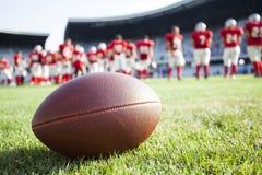 Fine in su di un football americano Fotografie Stock Libere da Diritti