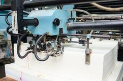 Fine su di una macchina di stampa offset durante la produzione Immagine Stock Libera da Diritti