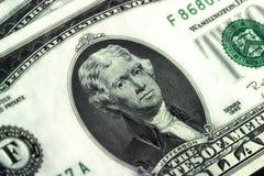 Fine in su - due dollari Bill Fotografie Stock Libere da Diritti