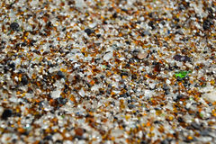 Fine su - sabbia sulla spiaggia di vetro - Hanapepe, Kauai Fotografia Stock Libera da Diritti