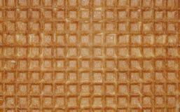Fine sul fondo dolce marrone dei quadrati della cialda immagine stock libera da diritti
