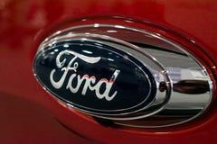Fine sul logo di Ford immagini stock