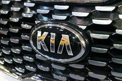 Fine sul logo di KIA fotografie stock libere da diritti