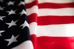 Fine sulla bandiera degli Stati Uniti d'America Festa dell'indipendenza di U.S.A., 4 fotografia stock