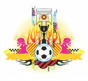 Fine symmetric composition on sports subjects. On a white background Royalty Free Stock Photos