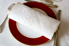 Fine table cloth 2 Stock Image