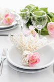 Fine table setting Royalty Free Stock Photos