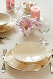Fine table setting Stock Image
