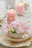 Fine table setting Royalty Free Stock Images