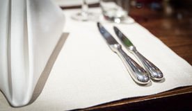Fine table setting Stock Photography