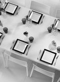 Fine table setting seen above Royalty Free Stock Photography