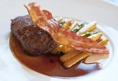 Fine tenderloin steak with asparagus Royalty Free Stock Photo