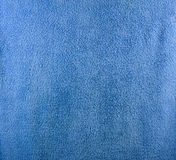 A fine texture of blue bath towel. Royalty Free Stock Photos