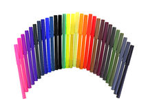 Fine Tip Marker Assortment Royalty Free Stock Photography
