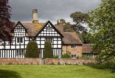 Fine Tudor house, Warwickshire Royalty Free Stock Photos