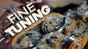 Fine Tuning Engine Performance Engineering Words Stock Photo