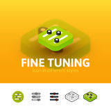 Fine tuning icon in different style Stock Photos