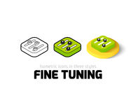 Fine tuning icon in different style. Fine tuning icon, vector symbol in flat, outline and isometric style Royalty Free Stock Photo