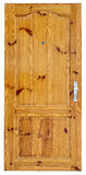 The fine but used pine door Stock Images