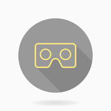 Fine Vector Flat Icon With VR Logo Royalty Free Stock Photography