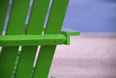 Fine verde della sedia di spiaggia su Fotografia Stock Libera da Diritti