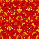 Fine Vintage Floral seamless pattern. Fine Vintage Floral  seamless pattern, red background Stock Photography