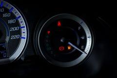 Fine vuota del calibro di combustibile su Fotografia Stock