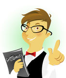 Fine waiters vector illustration