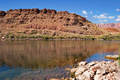 Fine water. The picturesque river Colorado on the average current royalty free stock images