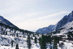 Fine weather in winter mountains Royalty Free Stock Photography