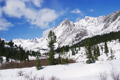 Fine weather in winter mountains Stock Images
