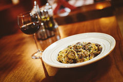 A fine wine & dine Italian cuisine royalty free stock photos